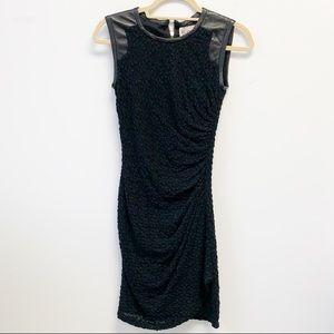 SEA leather trim cocktail dress